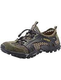 Zapatos de Agua de Verano para Hombres Ocasionales Piscina Playa Natación Cordón Zapatos de Buceo de Creek
