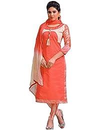 Manmandir Chanderi Silk Partywear Salwar Kameez Readymade with Printed Full Sleeves and Leggings Bottom