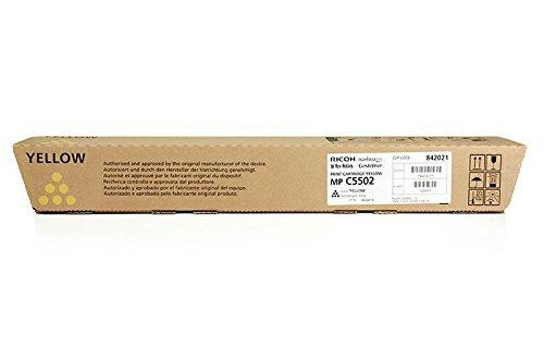 Original Toner kompatibel zu Ricoh Aficio MP C 4502 A, TYPE5502, TYPE5502E 841686 841758 842023, Premium Drucker-Kartusche, Gelb, 22500 Seiten