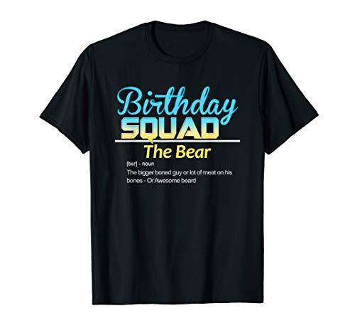 Geburtstags-Kader Spitznamen für Freunde Definition: Der Bär T-Shirt -