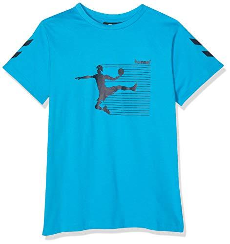 hummel Jungen HMLKEVYNC S/S T-Shirt, Hawaiian Ocean, 116