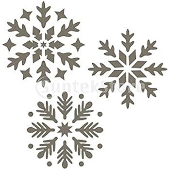 pochoir de peinture murale motif flocon de neige maison. Black Bedroom Furniture Sets. Home Design Ideas