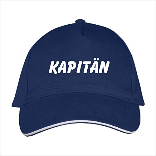 Basecap mit Kapitaen bedruckt (Kapitaen Navyblau)