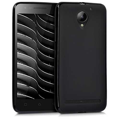 kwmobile Lenovo C2 Hülle - Handyhülle für Lenovo C2 - Handy Case in Schwarz matt