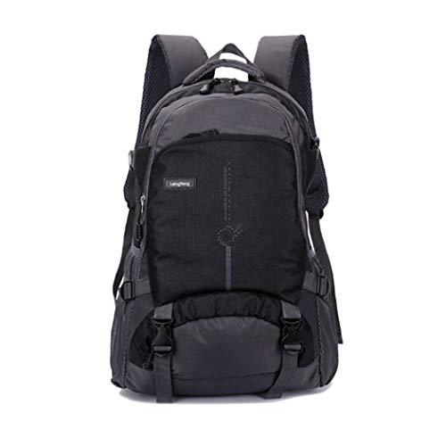 LF Wasserabweisender Rucksack für die Reise im Freien Schultasche mit großer Kapazität, Laptop-Rucksack, Rucksack aus Nylontuchmaterial, Tagesrucksack für College-Studenten für Männer und Frauen