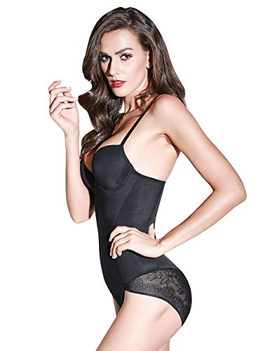 Romdink Mujeres Entrenador de Cintura Body Shaper Control Slim Lace Body Shaping Pants Talla Grande