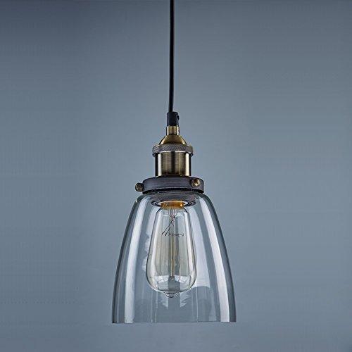 Lightess-Industrie-Retro-Hngelampe-Glas-Shade-Anhnger-Deckenleuchten-fr-Kche-Loft-Schlafzimmer-Office-Home-Dekorative