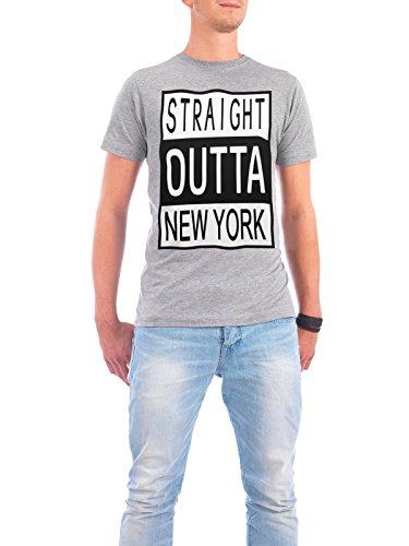 """Design T-Shirt Männer Continental Cotton """"New York"""" - stylisches Shirt Typografie Städte Reise von David Springmeyer Grau"""