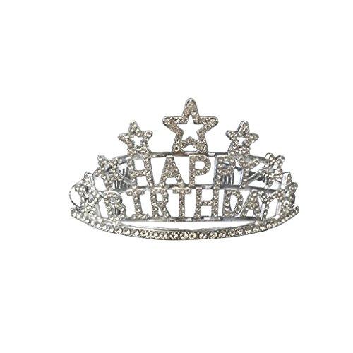 Kristallstern Alles Gute Zum Geburtstag Tiara Prinzessin Krone Kamm Mädchen Party Geschenke