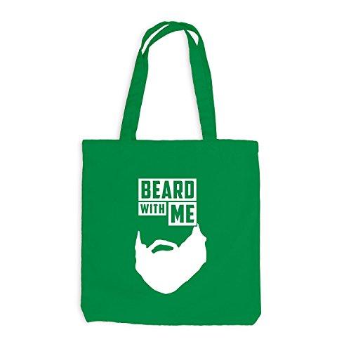 Jutebeutel - Beard with me - Bart Kellygrün