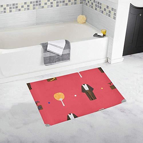 Alfombras de baño antideslizantes Niños Arte clásico Hermoso ventilador redondo de Japón Alfombrilla...