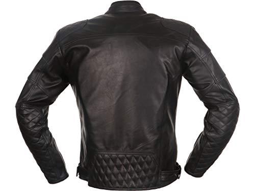 Modeka ruven Hombre Moto Chaqueta de piel Urban–Negro