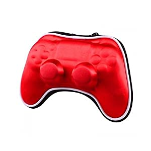 OSTENT Air Foam Hart Carry Pouch Tasche kompatibel für Sony PS4 Bluetooth Wireless Controller – Farbe rot