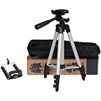 Generic 3110 Tripod Stand for Phone and Camera Adjustable Aluminium Alloy Tripod Stand Holder for Mobile Phones & Camera…