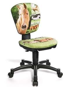 Topstar Chaise de bureau rotative pour enfant Motif cheval