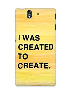 AMEZ i was created to create Back Cover For Sony Xperia Z