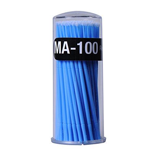 100 unidades demicro cepillos limpieza maquillaje