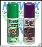 Nikwax Footwear Cleaning Gel & Nubuck and Suede Proof Sponge 125ml Twin Pack