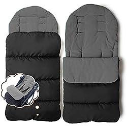 Jiele - Chancelière universelle pour poussette, confortable, chaude, couvre-jambe pour l'hiver, coupe-vent, sac de couchage, housse de siège en coton pour poussette