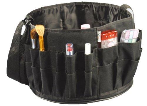 MUA LIMITED Trousse/ Sac rangement avec poches, et porte pinceaux, facile à transporter, Noir