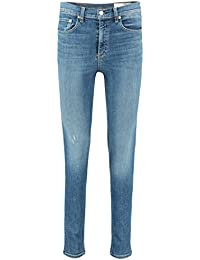 Rag & Bone High Rise Skinny Jeans In EL Cut Hem