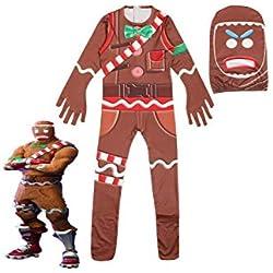 Halloween Juego Calido Pijamas para Nino Cosplay de Vestuario Ropa de Dormir Halloween y Navidad Craneo de Impresion 3D,130