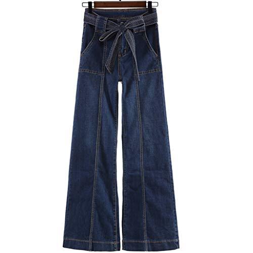 a9ab29a298 RXF Corno Jeans Jeans a Vita Alta Femminile Jeans Larghi Pantaloni Larghi  Pantaloni Casuali (Colore : Blu, Dimensioni : 26)