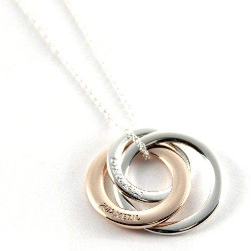 [] Tiffany Tiffany Rubedo argento/Rubedo metal 1837interlocking Circles...