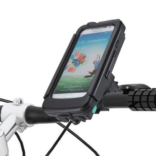 Tigra Sport BikeConsole PowerPlus Robuste Wasserfeste Stoßfeste Schutzhülle mit Wiederaufladbarem Akku Pack/Ladegerät und Fahrradhalterung für Samsung Galaxy S4 2800mAh - Schwarz Galaxy S4 Fällen Mit Akku-pack