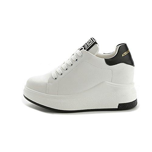 Damen Sneakers Sportschuhe | Bequeme Freizeit Laufschuhe | Fitness Turnschuhe Weiß