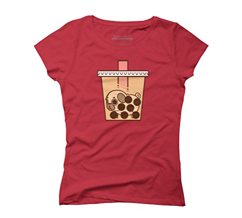 Puglie Boba Tea Women's Graphic T-Shirt - Design By Humans Red