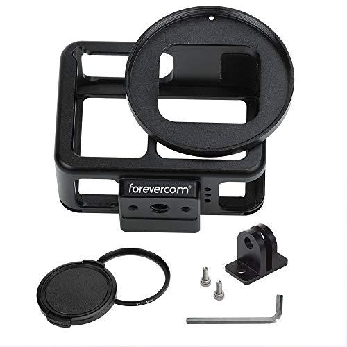 Forevercam Coque de Protection pour GoPro Hero 7 Argent/Blanc GoPro Aluminium Accessoire,inclure des filtres UV 52 mm