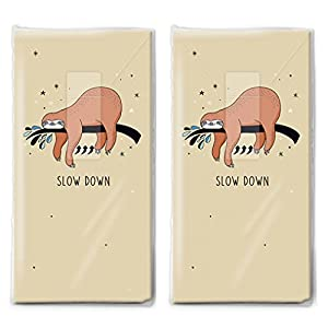 2 x 10 Taschentücher Immer langsam/Faultier/Kinder/Tiere