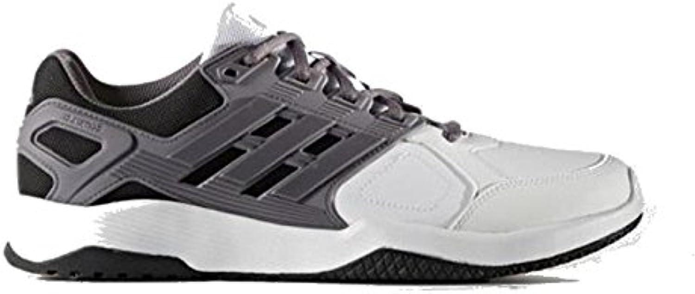 adidas duramo 8 8 8 formateurs hommes m agrave; chaussures de sport, Blanc agrave; ftwbla gri tra neg bas 44 19019b