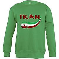 Supportershop–8Sweatshirt irán 8Mixta niños, Verde, FR: L (Talla Fabricante: 8años)