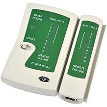Ryrty(TM) Juego de herramientas Rastreador Detector de l¨ªnea de descuento RJ45 RJ11Cat5 Cat6 Cable de red LAN Handheld Tester probador de cable de alambre de tel¨¦fono