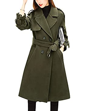 Donna Parka Manica Lunga Cappotti Trench Cappotto Trench Blazer Giacca Outwear