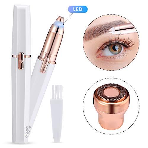 Liaboe Eléctrica Depiladora Cejas 2 en 1 Afeitadora de Cejas para Mujer Recortador Facial Wet & Dry...