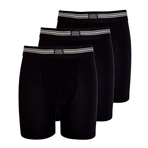 Jockey® Herren, Cotton Stretch Boxer Trunk 3er-Pack, 17301733, schwarz, Größe 2XL