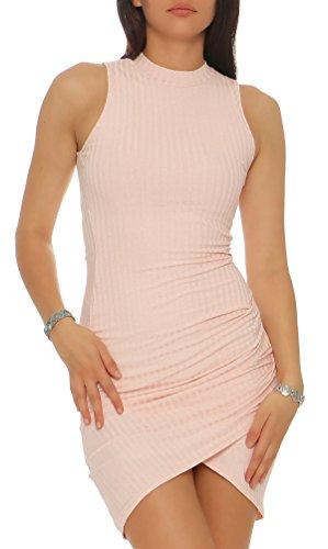 malito Kleid im Strick-Design ärmellos Etuikleid 8166 Damen Rosa