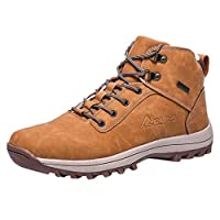 Men Outdoor Keep Warm Sport Shoes, Male Solid Lace-Up Winter Sneakers Ankle Short Boots