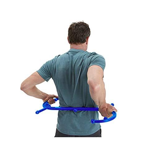 Xbswan Body Trigger Point Therapy Selbstmassagegerät - S-Förmiges Trigger Point Massagegerät Zur Linderung Von Rückenschmerzen, Myofascial Release Tool Selbstmassagestab Für Tiefe Muskeln,Blue -