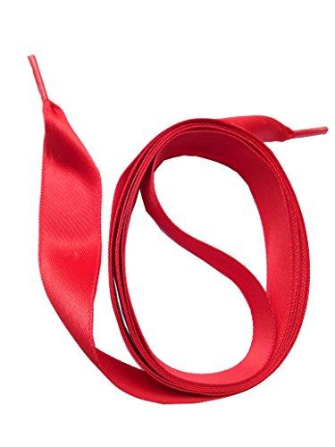 SNORS - Schnürsenkel - SATINSENKEL, 20 Farben, 2 Längen, schmal, flach (Schuhe Rot Band)