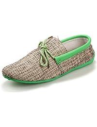 Hombres Mocasines Casual Transpirable Ligero CáñAmo Zapatos Planos Suave ConduccióN Mocasines