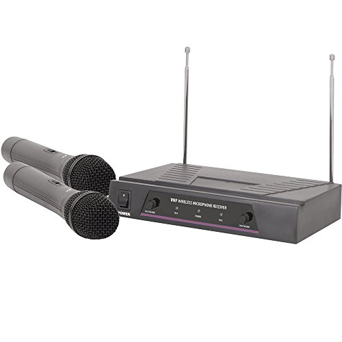 2-Kanal Wireless Mikrofon Empfänger kit-VHF Handheld Kondensator Karaoke Schalter