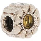 Pandora Damen Charm Silber/Gelb Element Emaille 1 Charm 790519EN15