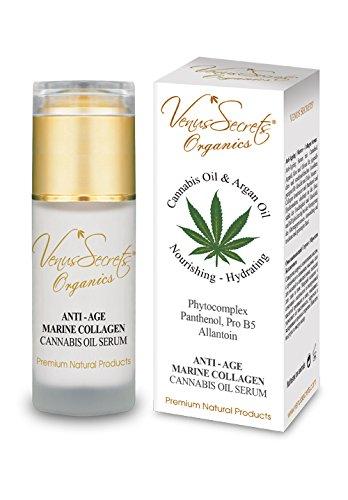 Anti-Aging-Serum mit Öl von Cannabis Kollagen Marino – 40 ml – dringt durch die Haut und die...