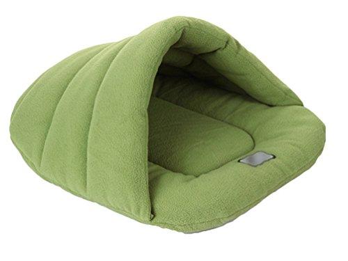 Yijee caldo sacco a pelo per cane morbido accogliente letto cuscino per cani gatto verde s
