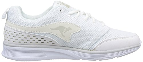 KangaROOS - Current, Sneaker Unisex – Adulto Bianco (Blanc (White 000))