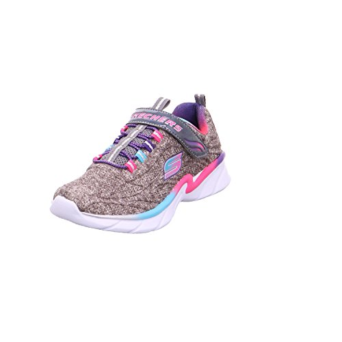 Skechers Kinder Sneaker Swirly Girl - Shimmer Time 81703L Black/Multi 34 (Mädchen Swirly)